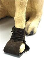 China Dog Boots Suede Leather Lace Up Dog Boots on sale