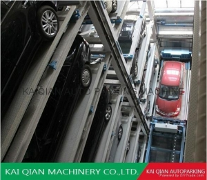 China PCSY robotic revolving multi layers vertical parking garage,car parking system on sale