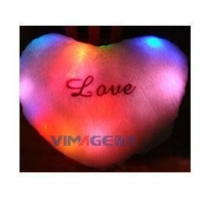China USB Heating Heart-Shaped Cushion with LED lighting on sale
