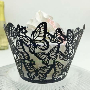 China laser cut cupcake wrappers for christmas decoration on sale