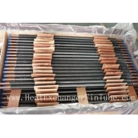 China C12200 / TP2 Copper Finned Tube , Tension Wrapped L Type Condenser Tube on sale