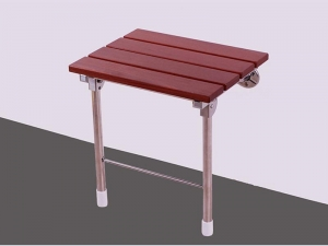 China Handicapped Wooden Wall Mounted Folding Shower Seat on sale