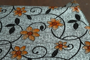 China Oil Proof PVC Metal Printed Table Cloth on sale