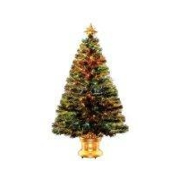 China Christmas Trees National Tree Fiber Optic Christmas Tree Gold 3' 140 Tips on sale