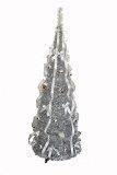 China Christmas Trees Homegear 5FT Artificial Tinsel Decorated Christmas Tree Xmas Decoration Silver on sale