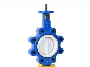 China Full PTFE lined teflon butterfly valve lug type on sale