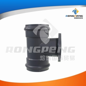 China Plastic fittings and pipes Equal tee double sockets & flange on sale
