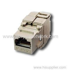 China CAT6A&CAT6 FTP Toolless 180  Keystone jack on sale
