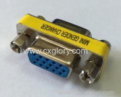 China Adapter VGA Female to VGA Female mini gender changer on sale