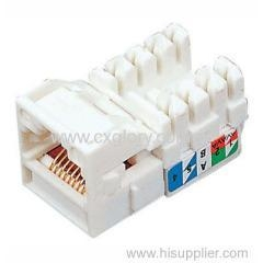 China Cat.5e RJ45 Keystone Jack Systimax Type Keystone Jack on sale
