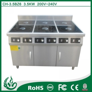 China Dongguan 6 burner commercial induction electric range cooker on sale