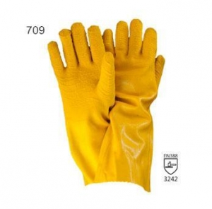 China Latex Coated Glove Series 40CM cotton jersey linerwith full latex coating on sale