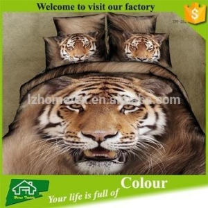 China 3d animal print fabric colorful bedding sets on sale