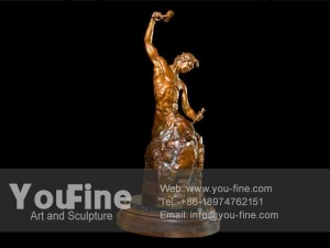 China Famous Casting Bronze Sculpture of Self-Made Man on sale