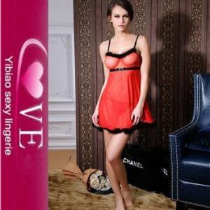 China Transparent Nighty Wear Sexy Open Big Breast Lingerie Mature Women Sex Babydoll Dress on sale