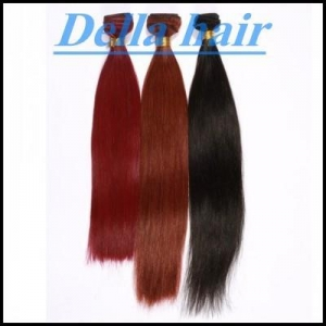 China colorfull straight hair extension ,peruvian cambian indian and brazilian hair in stock on sale