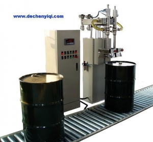China Weigh Modules DF-200-Au2 Drum Filler 200L Liquid Filling Machine on sale