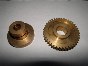 China Brass Part precision machining worm wheel on sale