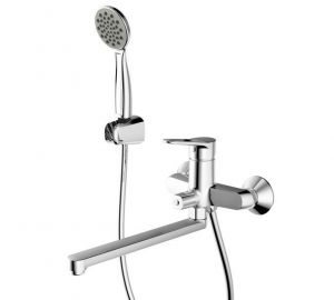 China Bathroom Description: Single Handle Wall Mounted Bath & Shower Mixer Long spout on sale