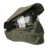 China Protective Mask Olive Tactical Protective Anti Fog Paintball Mask with Double Elastic Strap for sale