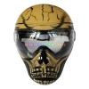 China Protective Mask Yellow Save Phace Full Face Anti Fog Paintball Mask for sale