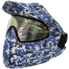 China Protective Mask Navy Blue Anti Fog Paintball Mask with DYE I4 Thermal Lens for sale
