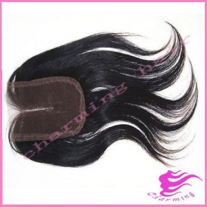 China 5A Grade Peruvian Straight Hair Lace Closure,Middle Pa... on sale