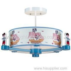 China Lovely pirate ship pendant lighting Children bedroom Cartoon boy room on sale