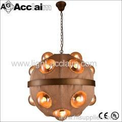 China Originality chandelier Fabric pendant lamp Round ball lighting Retro personality lamp on sale