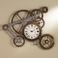 China Clock and Gears Wall Art on sale