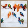 China Wholesales Modern High Quality Birds Hand Painted Oil Painting for sale
