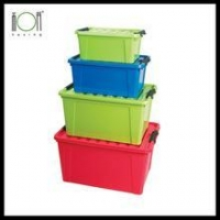 New Style Plastic Storage Boxes with Wheels