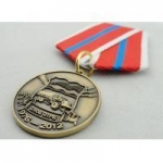 Souvenir Gift Zinc Alloy 3D Custom Medal Awards with Ribbon Two Sides Die Casting
