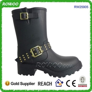 China New trend lady fashion black boots on sale