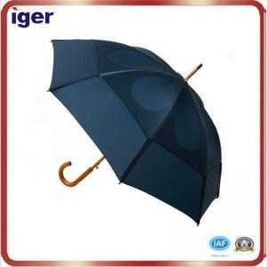 China Mens Umbrella top sell black walking stick rain umbrella on sale