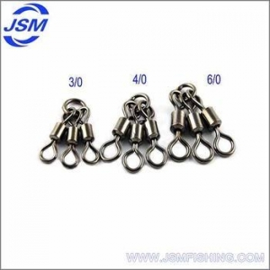 China JSM Wholesale Snap Swivel Three Way Rolling Swivel ,Brass Fishing Swivel on sale