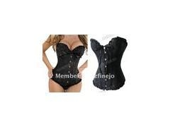 China Underwear 2012 newest Sexy Lingerie Lace up Steel Wedding Corset Bustier G-string on sale
