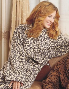 China Products name: LEOPARD PRINTED POLAR FLEECE ROBE on sale