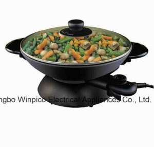 China Wok Electric Woks and Stir Fry Pans, 2-in-1 on sale