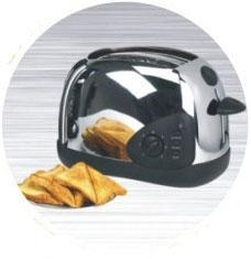 China Toaster 2-Slice Toaster Stainless Steel Housing on sale