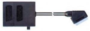 China Scart plug & Scart adapter & S... 21pin scart plug to 2 21pin scart jacks and box W/switch on sale