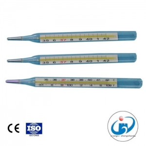 China Flat Clinical Glass for Oral or Armpit Use Medical Thermometers on sale