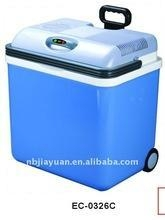 China Outdoor cooler portable Mini car fridge with temperature display and wheels 26L on sale