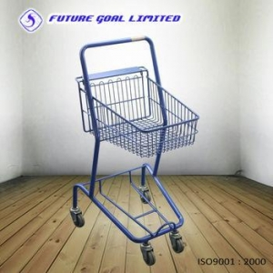 China Wire Basket Trolley / Shopping Cart / Supermarket Trolley on sale