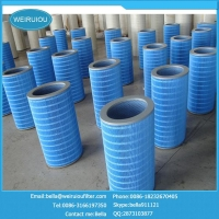 Flame retardant dust filter element