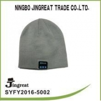 Wholesale Lastest and Fashion Fabric knitted winter warm beanie hat blue tooth headset