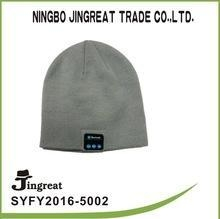 China Wholesale Lastest and Fashion Fabric knitted winter warm beanie hat blue tooth headset on sale