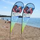 China Beach flags Custom beach teardrop banner on sale