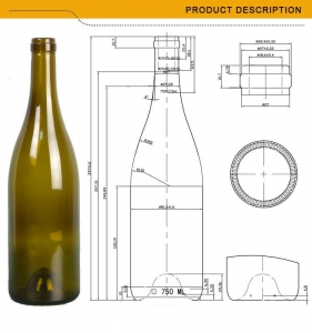 China manufacture 750ml capacity glass wine bottles on sale