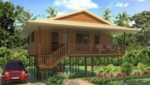 China Holidays Thailand Wooden House Bungalow , Koh Samui Beach Bungalows on sale